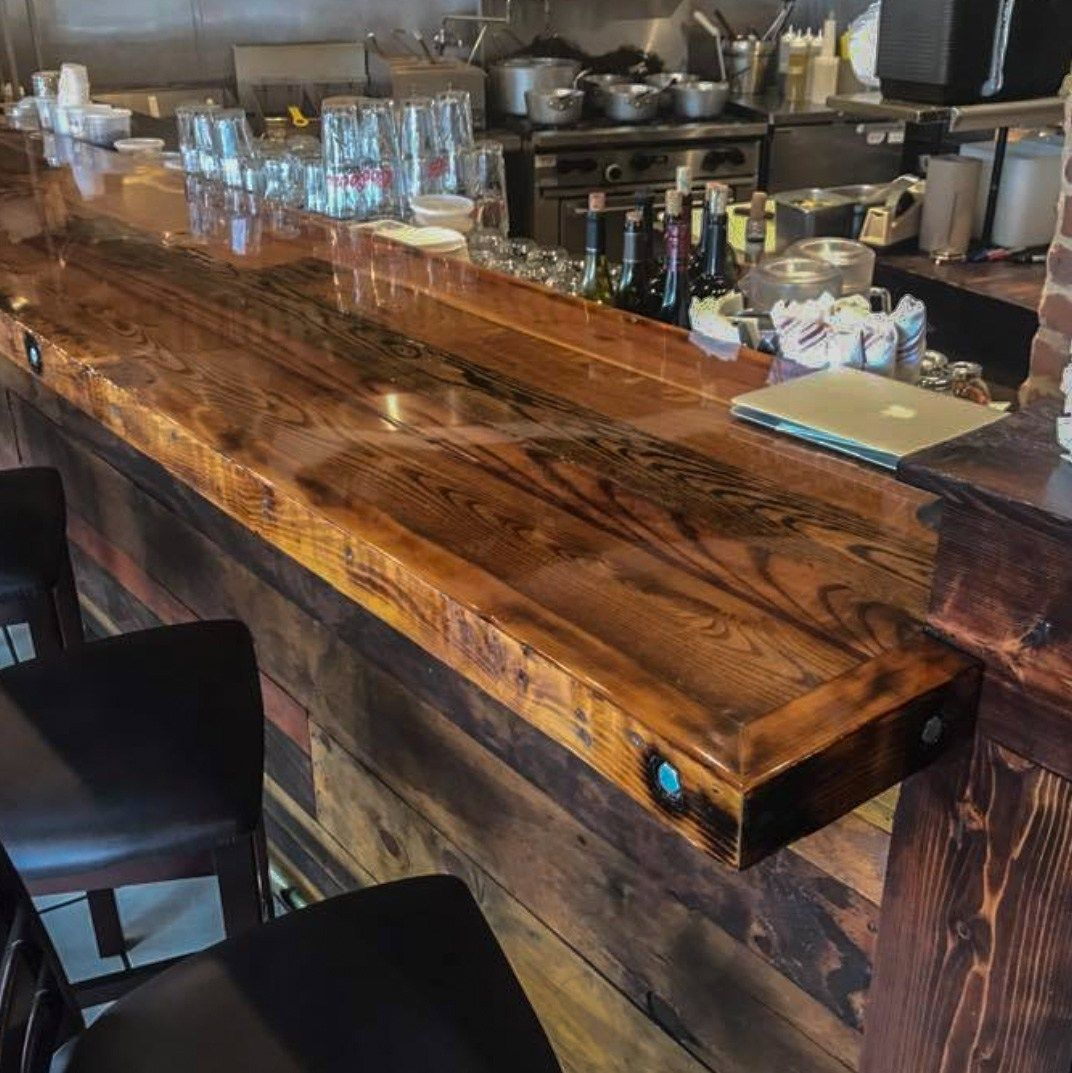 Wood Commercial Bar Top Google Search Reclaimed Wood Bars Commercial Bar Wood Countertops