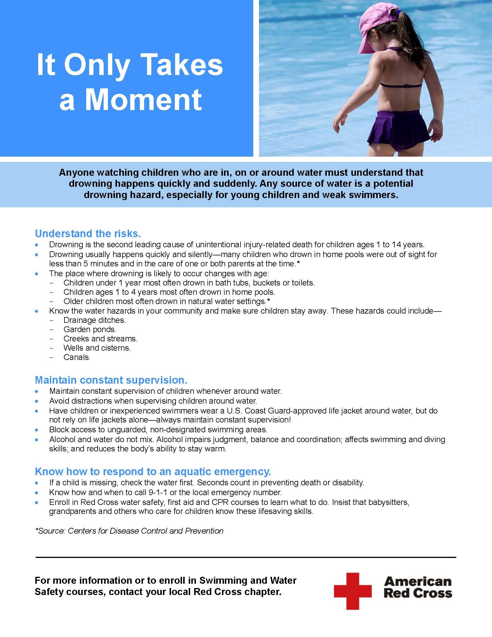 6b35a690e2e It only takes a moment - important information about how to prevent  drowning.