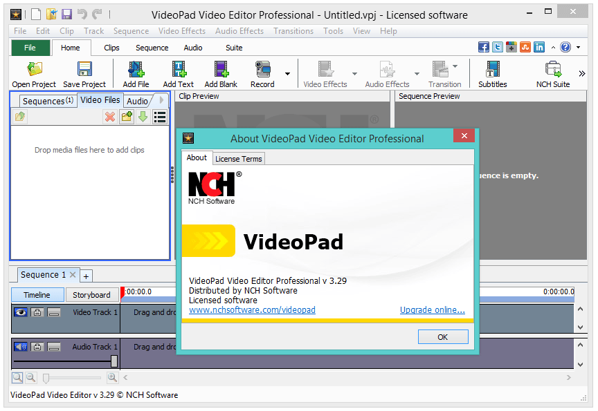 nch videopad video editor registration code