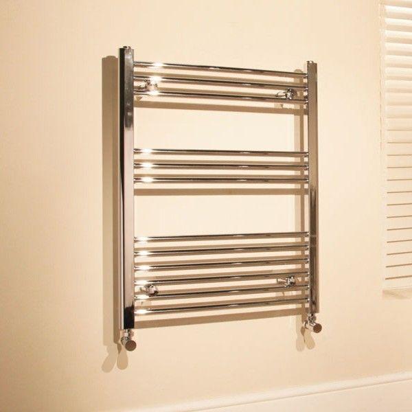600 X 760 Beta Heat Straight Chrome Heated Towel Rail Stainless Steel Bathroom Radiators Better Bathrooms Chrome Towel Rail Heated Towel Towel Rail