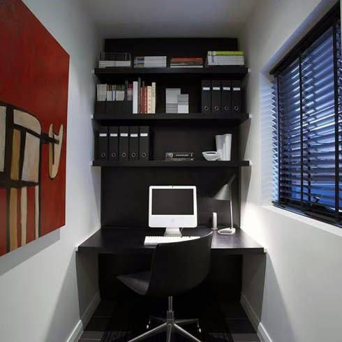 75 Small Home Office Ideas For Men Masculine Interior Designs Small Home Offices Small Space Office Small Home Office