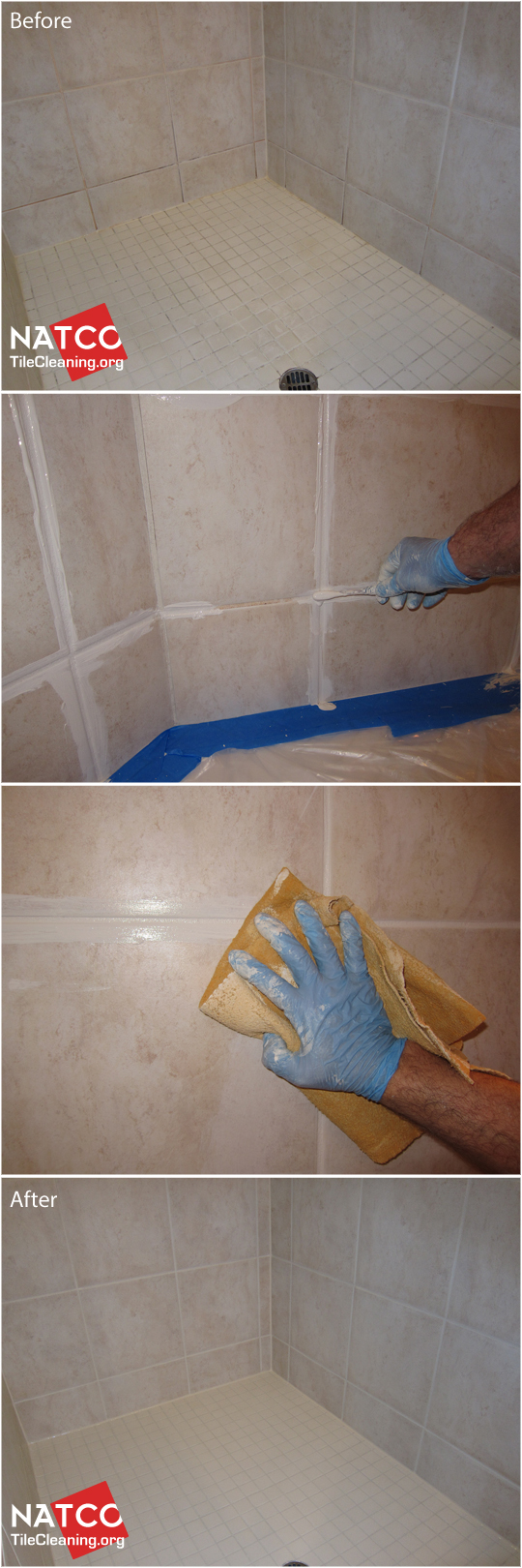 How To Clean And Whiten Grout In A Tile Shower Cleaning