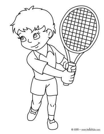 Tennis Coloring Pages Tennis Player Ready To Play Tennis Coloring Pages Tennis Players