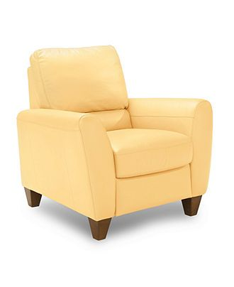 Almafi Leather Pushback Recliner Furniture Leather