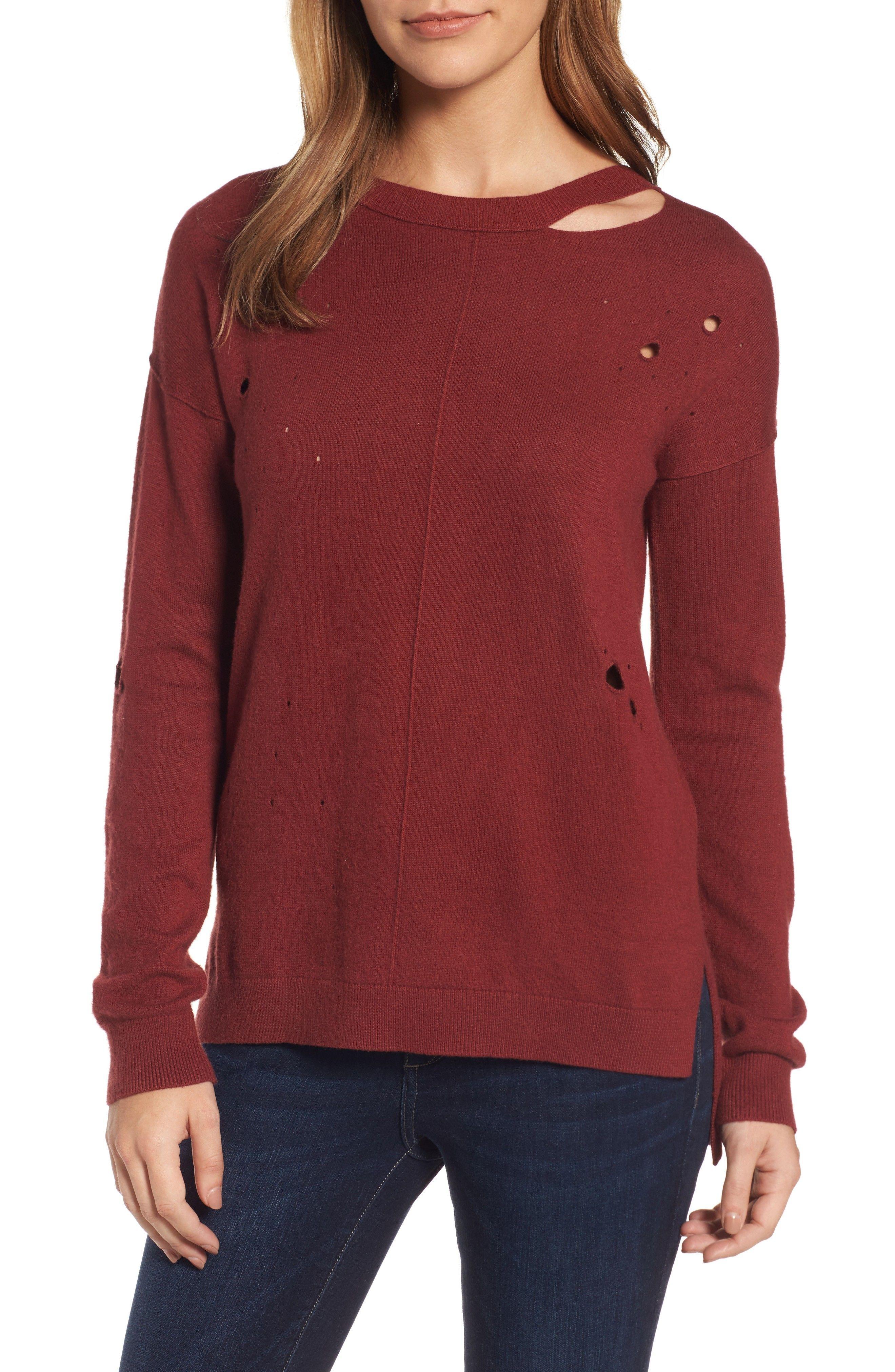 Distressed Sweater Distressed sweaters, Sweaters, Tunic tops