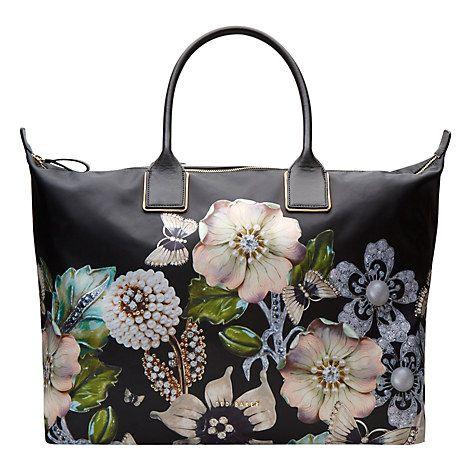 1d7d11cabaf Buy Ted Baker Immy Gem Gardens Tote Bag, Black Online at johnlewis.com