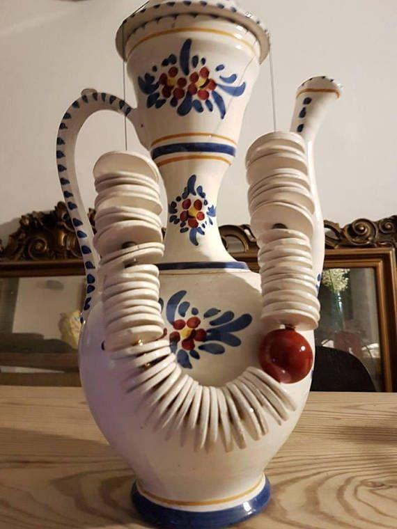 Bellissima collana in ceramica bianca con grande perla ...