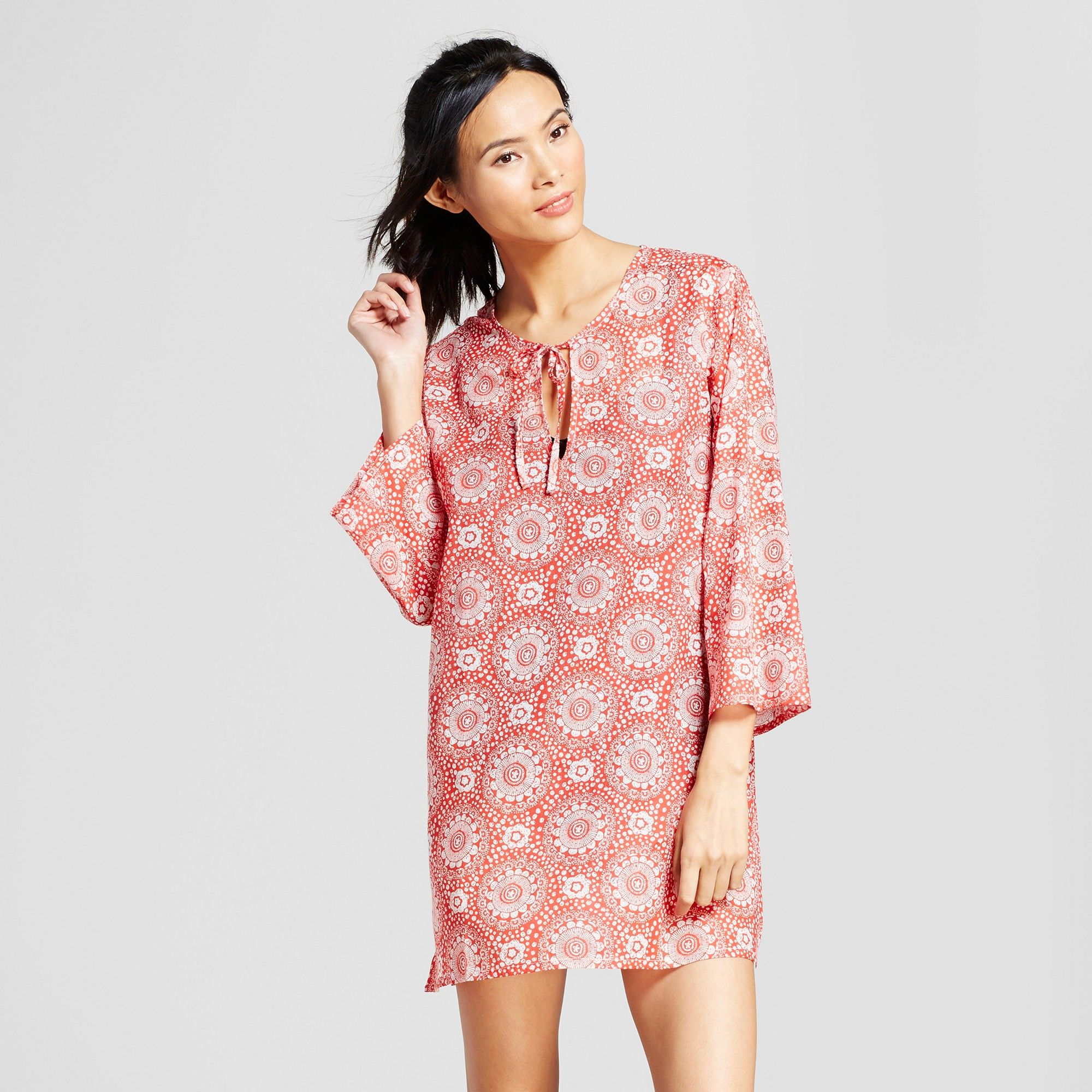 Cover Ups Rockflowerpaper Red S Women S Products Beach Tunic