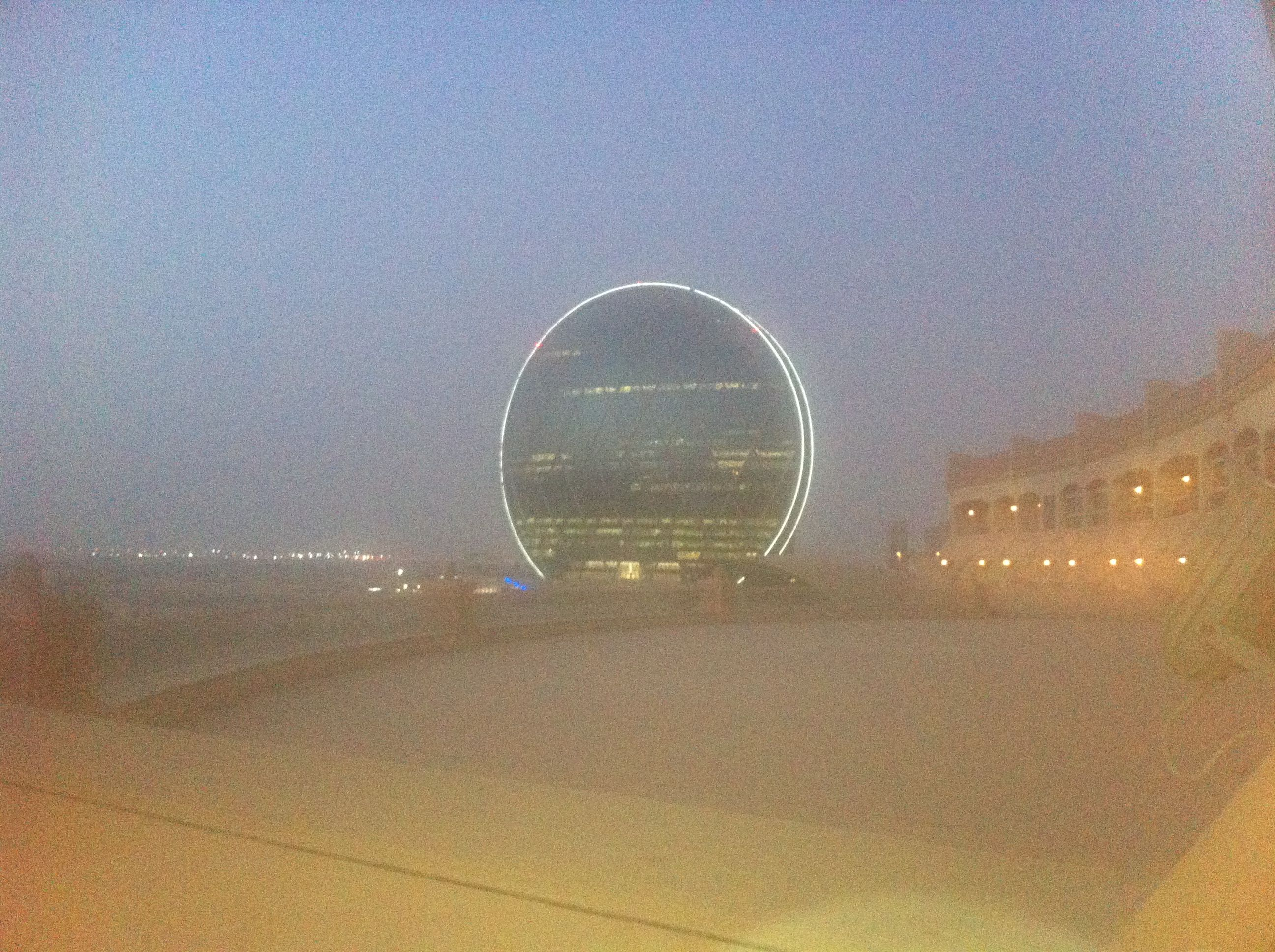 Love this building en route to Abu Dhabi
