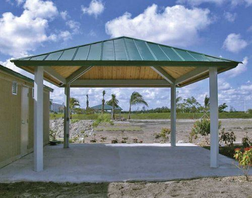 Forestview Square Pavilion Wood Steel Frame All Steel Gazebo Gazebo Roof Outdoor Pavillion