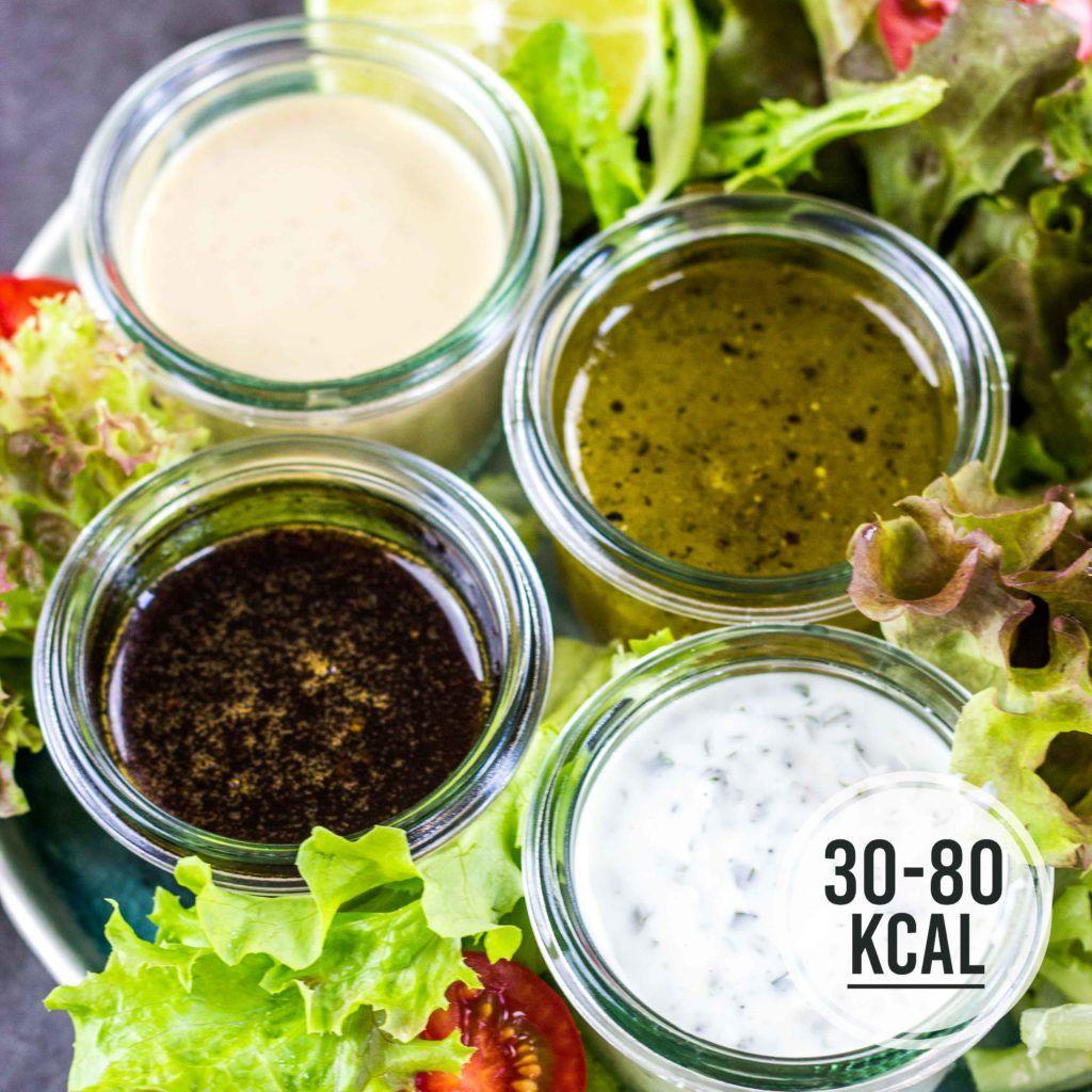 4 Gesunde Salat Dressing Rezepte Kalorien Geniessen Rezept Salatdressing Rezepte Dressing Rezept Gesunde Salate