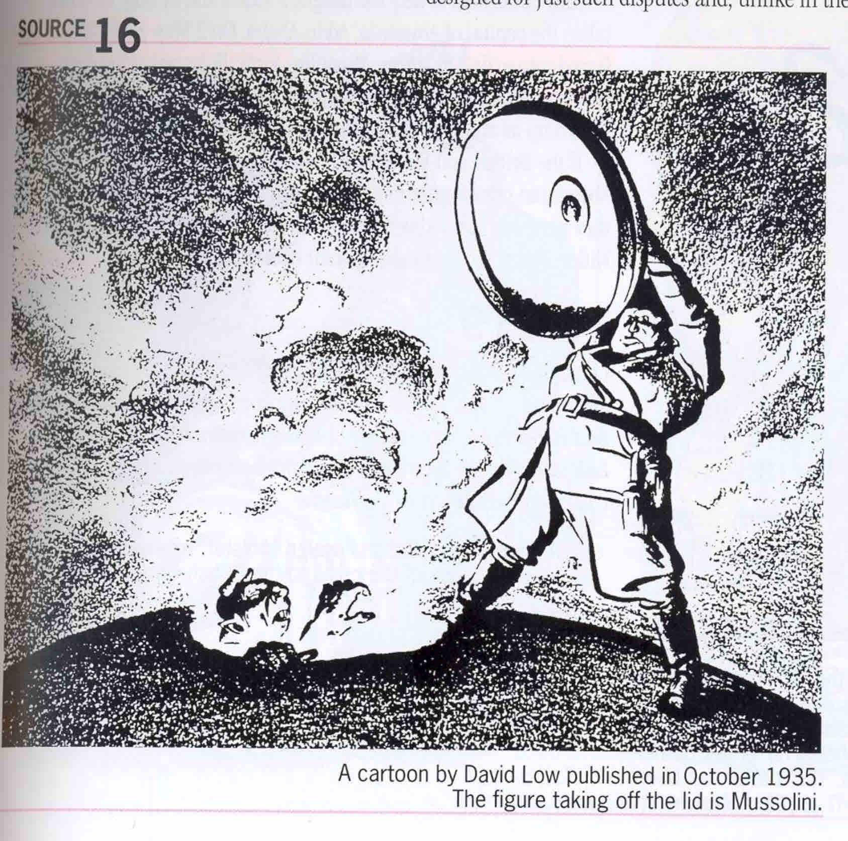 A Cartoon By David Low Published In October 1935 Historical Cartoons War Art Cartoon