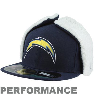 87d2b825efdf14 San Diego Chargers On-Field Dog Ear 59FIFTY NE Tech Fitted Hat – Navy Blue