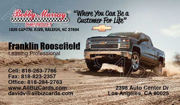 2014 Chevrolet Silverado Business Card Id 21071 Chevrolet