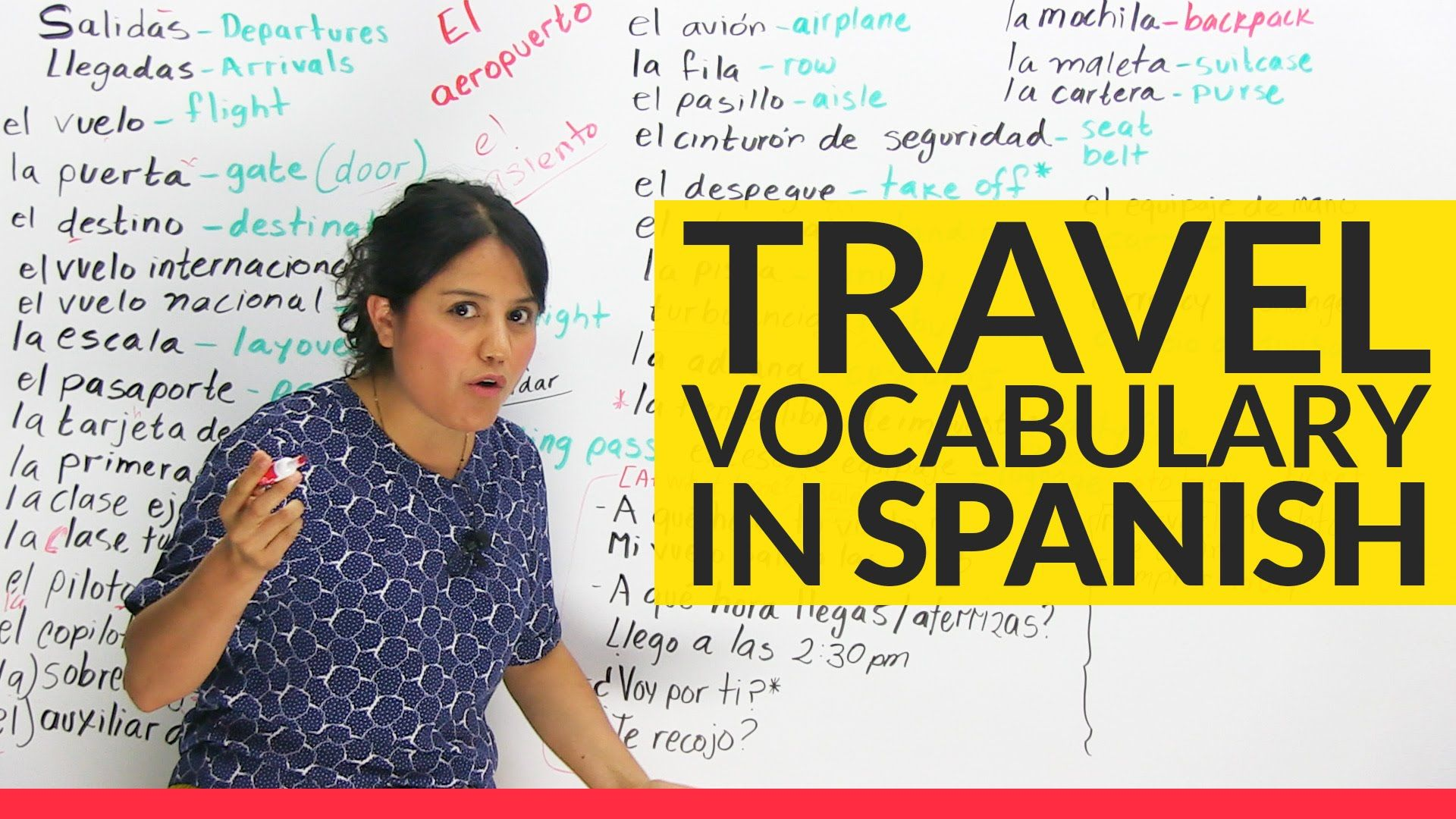 the top travel vocabulary in spanish class resources learning spanish spanish vocabulary y. Black Bedroom Furniture Sets. Home Design Ideas
