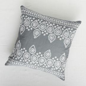 Boheme Embroidered Cushion Cushions Throws Curtains House Home House Home Rigby Mac Embroidered Cushions Beige Cushions Cushions