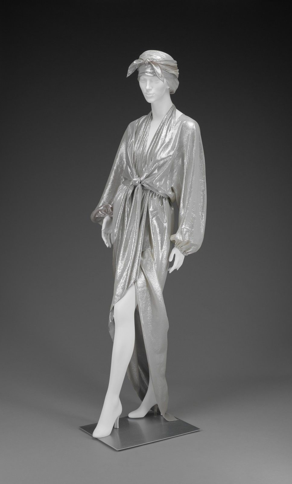 designer Halston | American | 1932-1990 creation date about 1975 materials silk metalic threads (lamé)