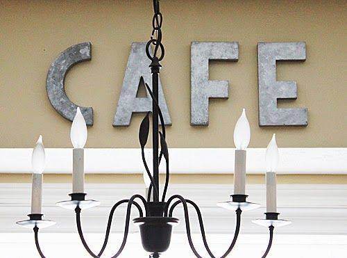How to hang metal letters