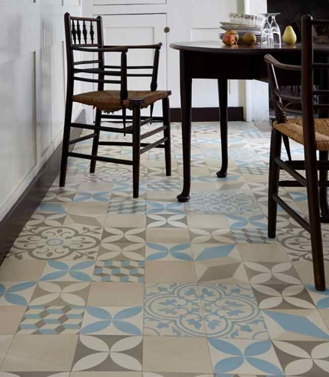 trends in patterned flooring | vinyls, mardi gras and grey