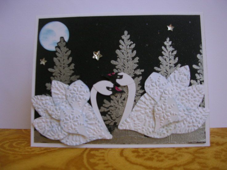 Wow Punch Art Swans Stampin Up Loveyly Card With