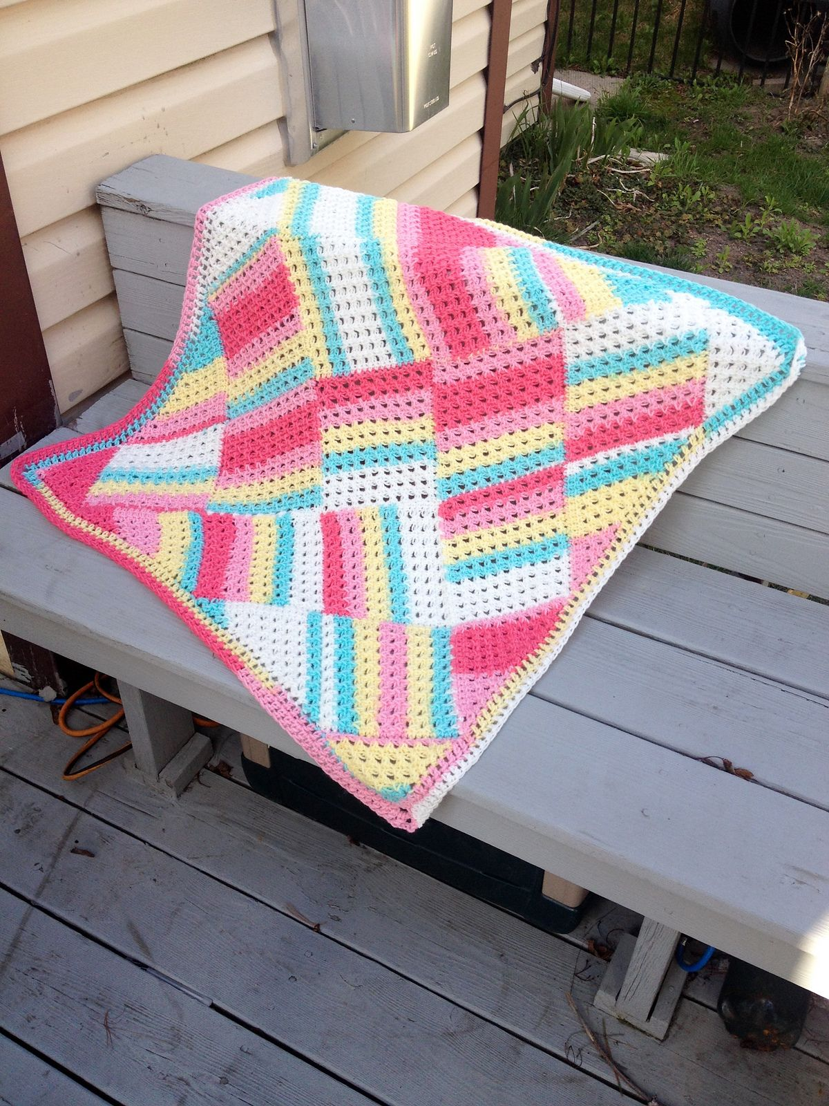 Make this sweet crochet baby blanket by american crochet with lion free crochet pattern for the tutti frutti baby blanket by nicole cormier of tunisian crochet chick for american crochet bankloansurffo Gallery