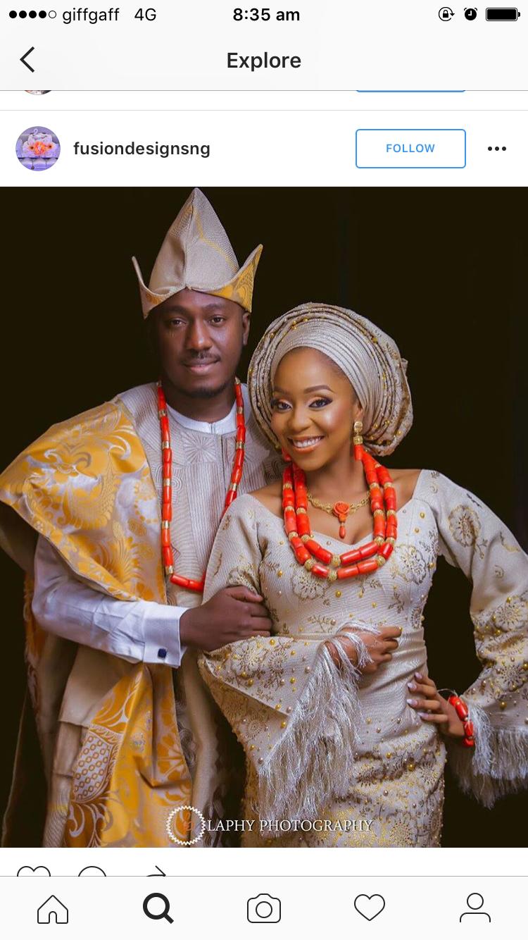 Pin von Remi Akinmade auf Nigerian Couples Traditional Attire ...