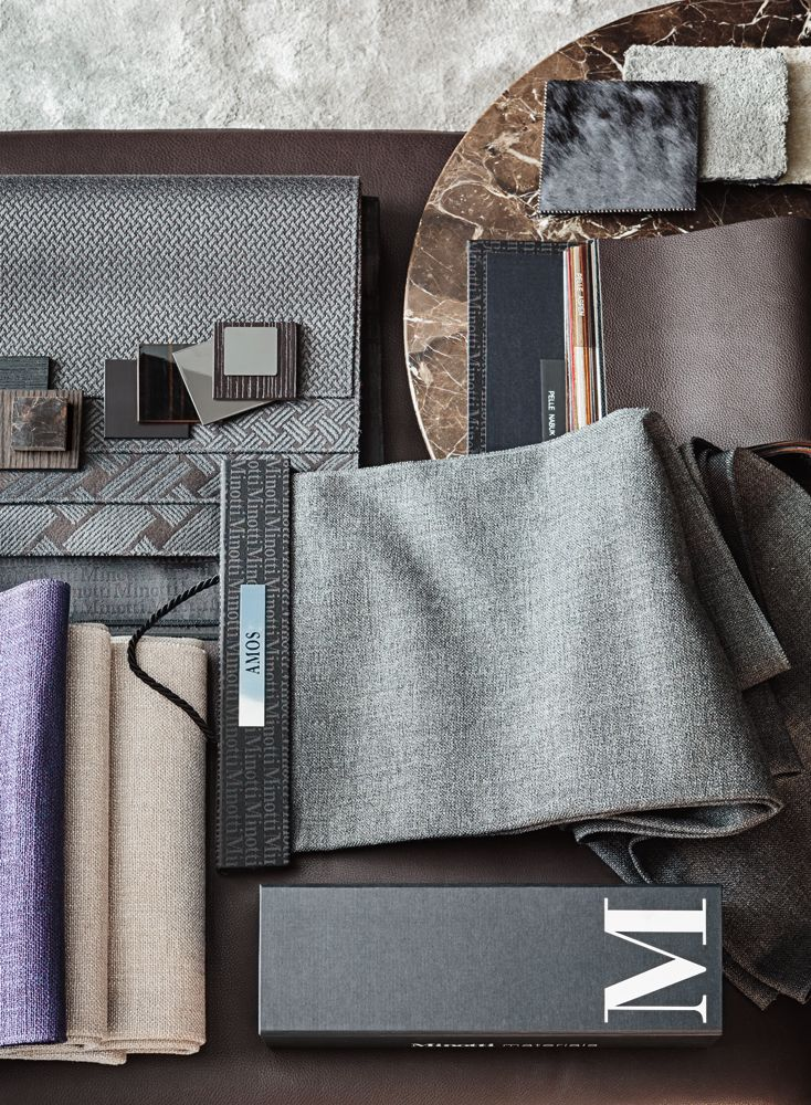 Design Interieur Stoffen Minotti Moodboard | Moodboards / Color Palettes In 2019