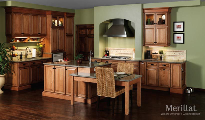 Merillat Classic Labelle In Maple Toffee With Java Glaze Merillat Cabinetry This Kitchen Merillat Kitchen Cabinets Kitchen Cabinet Design Kitchen Remodel