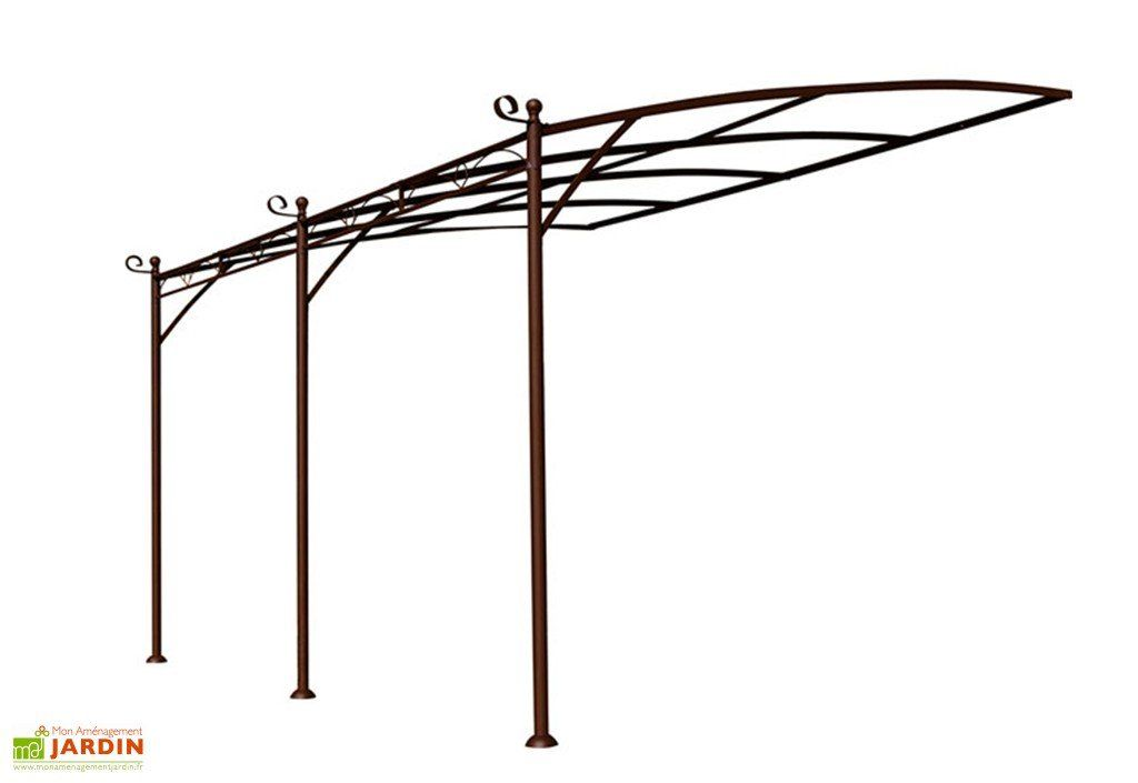 Tonnelle Fer Forge Adossee Illusion 4x3 M Pergola Fer Forge Fer Forge Pergola Fer