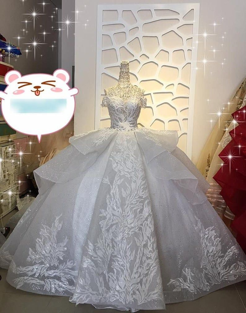 Snow White Luxury Princess Layered Wedding Dress Made To Order For A Fairy Tail Wedding Beautiful Unique Snow White Princess Bridal Gown Layered Wedding Dresses Fairy Tale Wedding Dress Princess Bridal [ 1011 x 794 Pixel ]