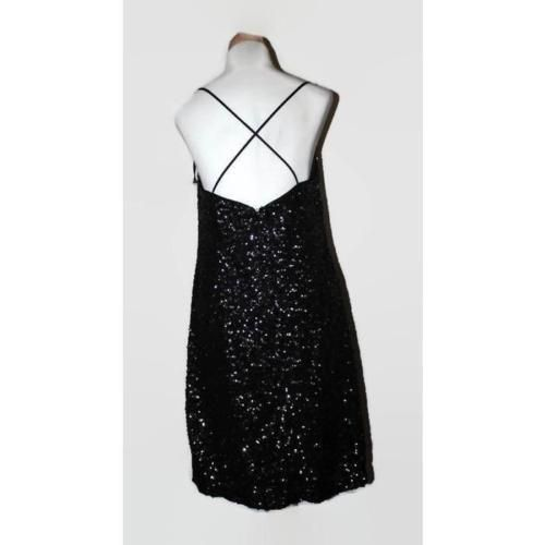 430bc4cf3282 Vera Wang Sequin Slip Dress Women's 6 Black NEW $250 | Women's ...