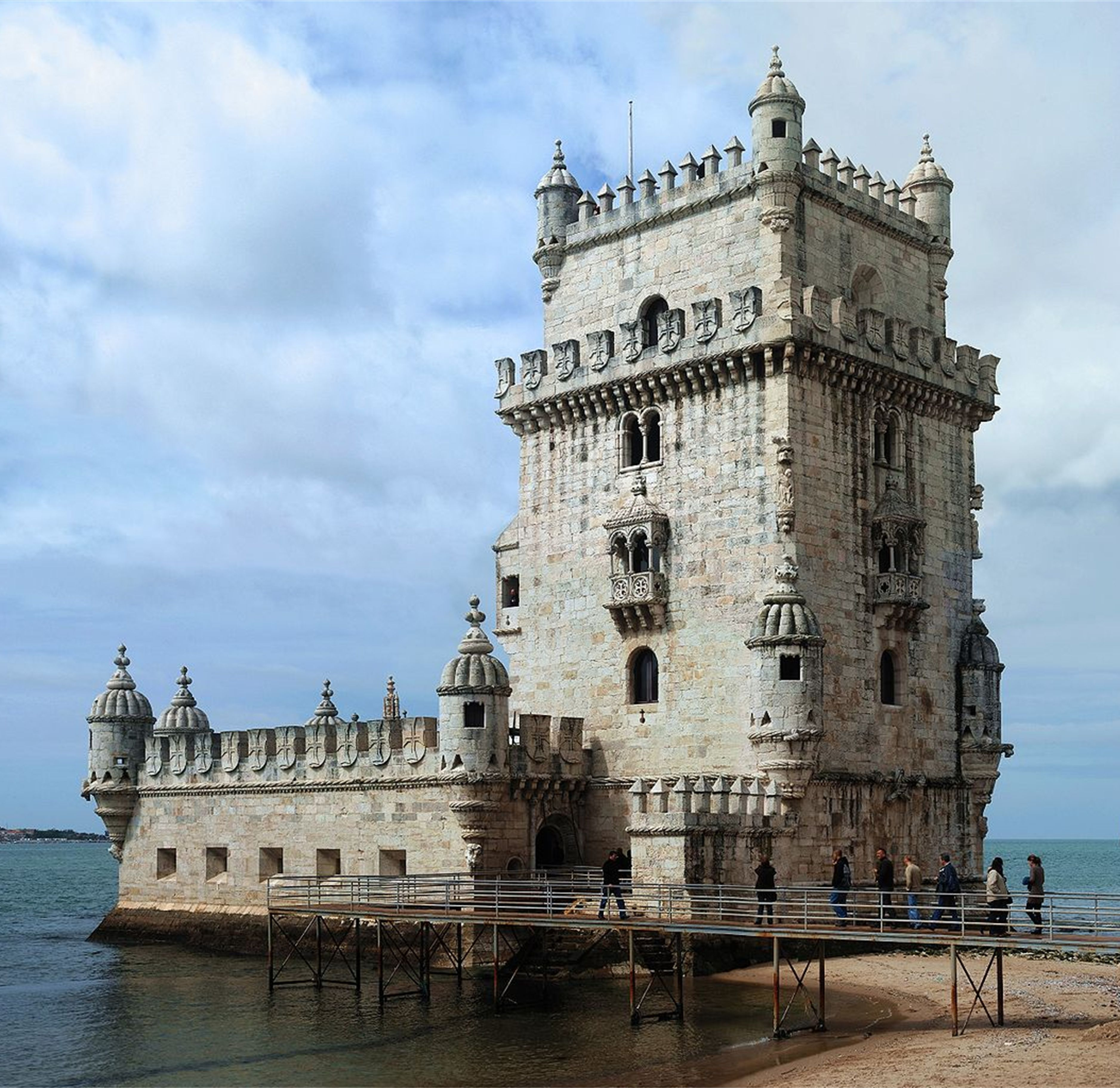 Great memories with friends at the Belém Tower in Lisbon, Portugal.