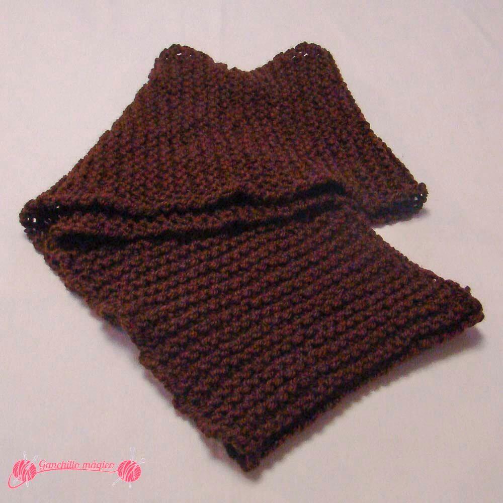 Cuellos fáciles en punto infinito marrón   Cuellos   Pinterest ...