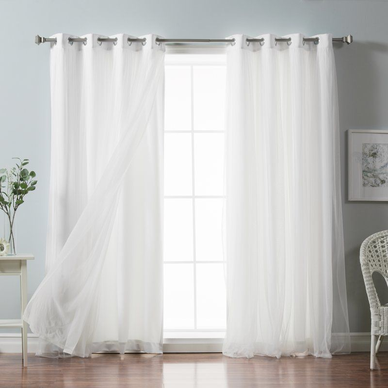 Brockham Solid Blackout Thermal Grommet Curtain Panels White