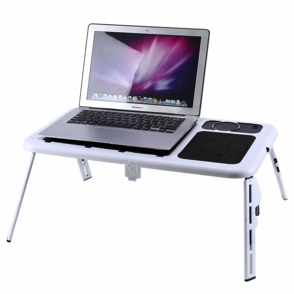 Computer standing table portable laptop desk adjustable computer computer standing table portable laptop desk adjustable computer table bed sofa stand tray usb cool fans geotapseo Gallery