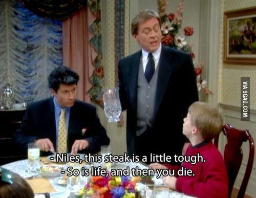 Niles, telling it how it is - 9GAG