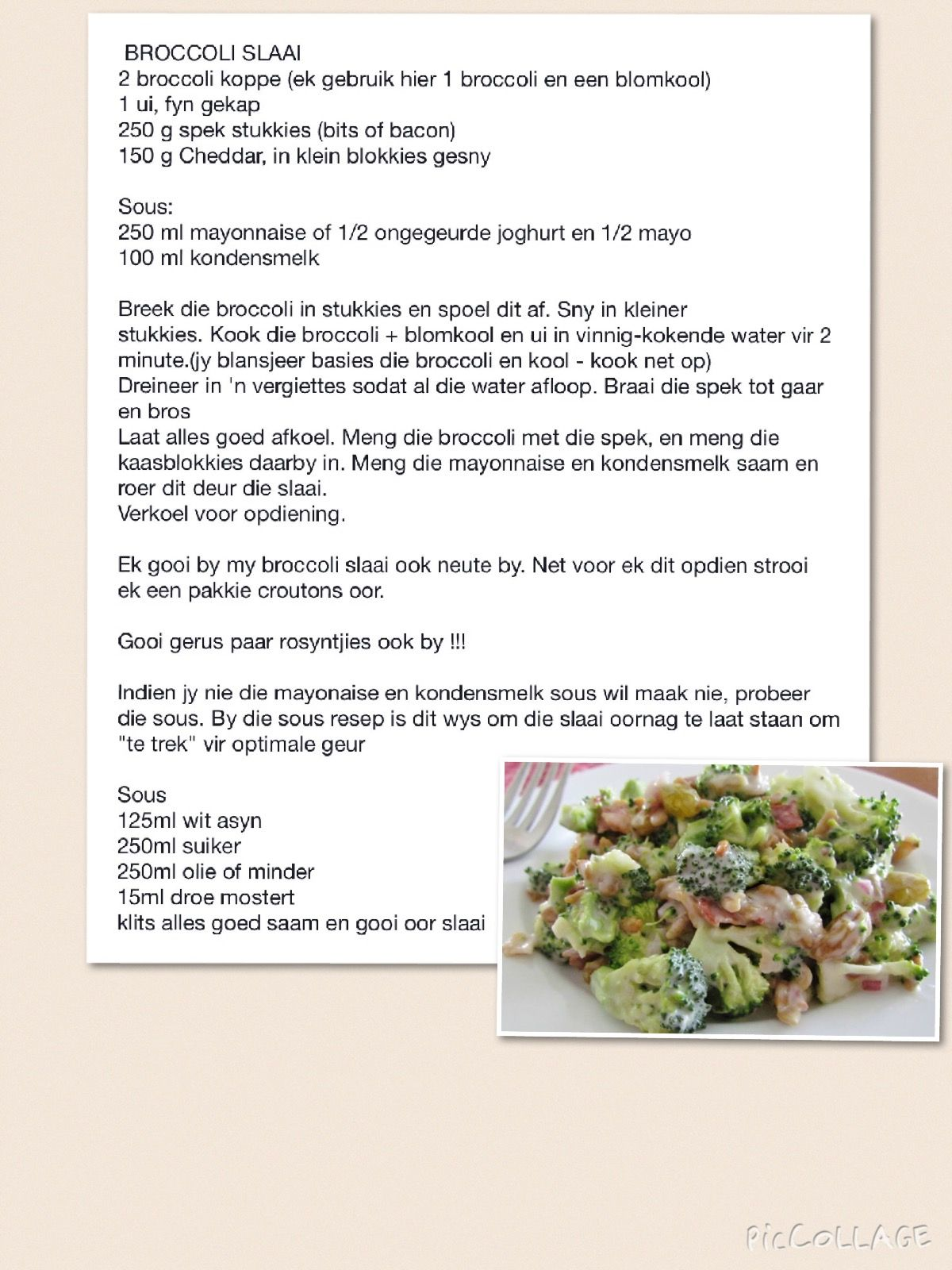 Broccoli Slaai Summer Salad Recipes Recipes Braai Recipes