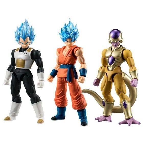 3 figurine dragon ball super articules