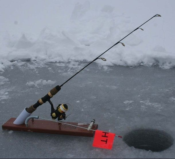 Ice fishing rod holders google search ice fishing for Ice fishing rod holders