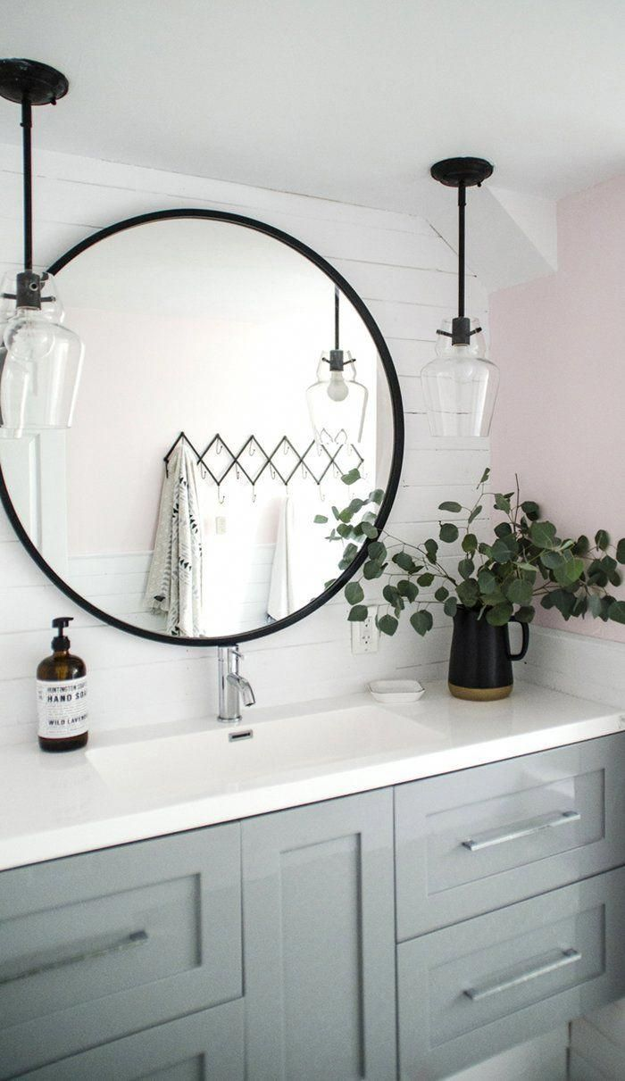 12 Inspirations For Home Improvement With Spanish Home Decorating Ideas: Round Mirror Bathroom, Accent Mirrors, Bathroom Mirror