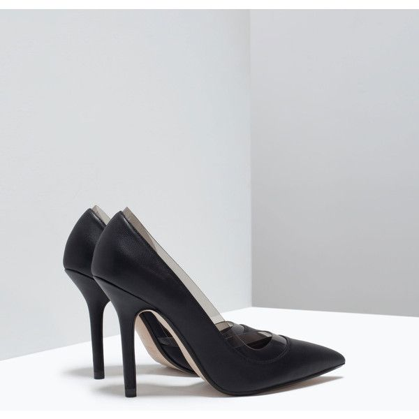 8a88101439e Zara Vinyl Heel Court Shoe (1.005 RUB) found on Polyvore featuring women s  fashion