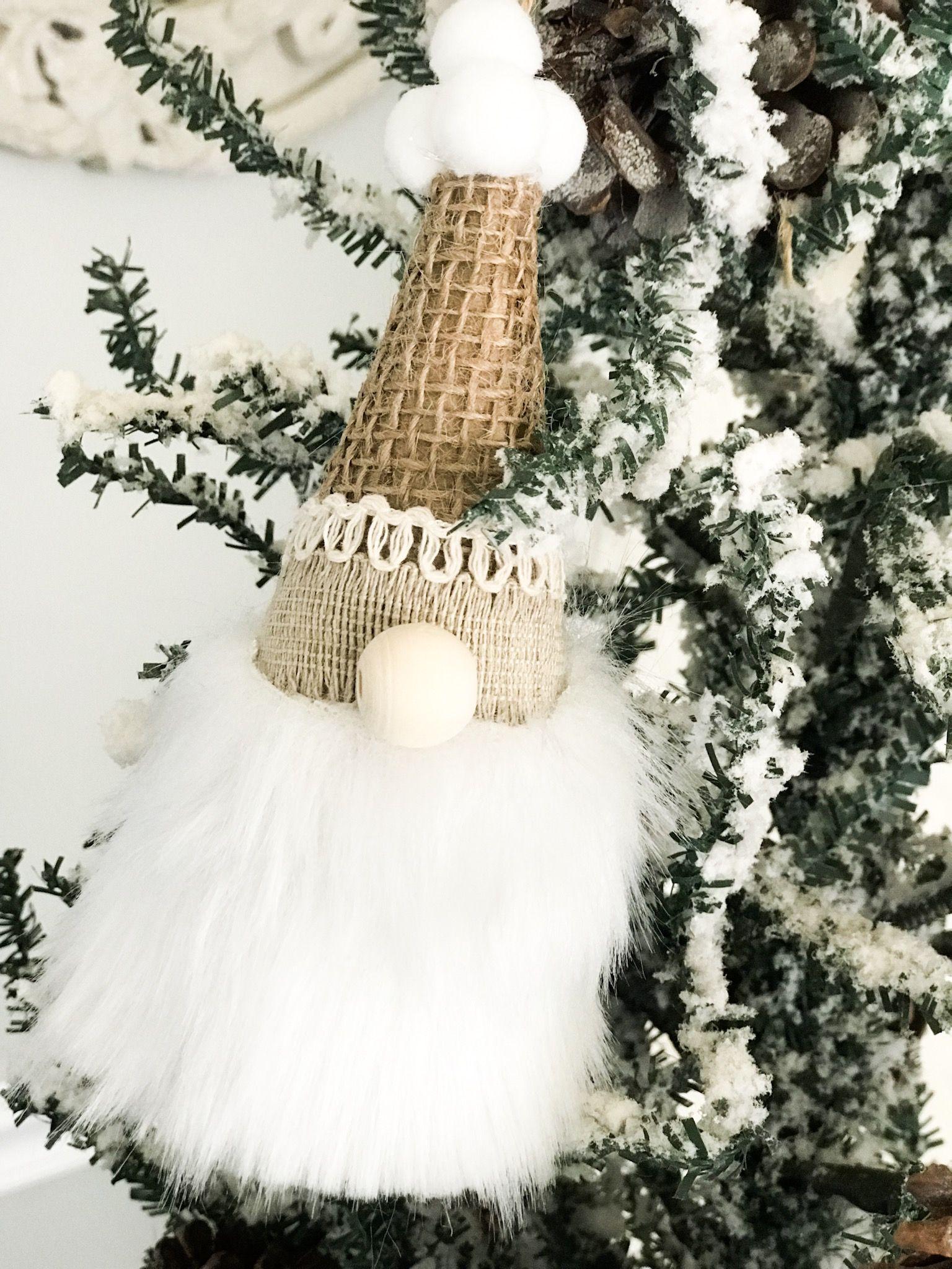 How To Make Mini Gnome Ornaments Re Fabbed Christmas Crafts Gnome Ornaments Christmas Ornaments