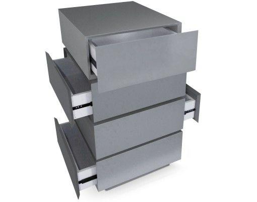Commode avec tiroirs rotatifs Romane gris laqué | Indoor Project ...
