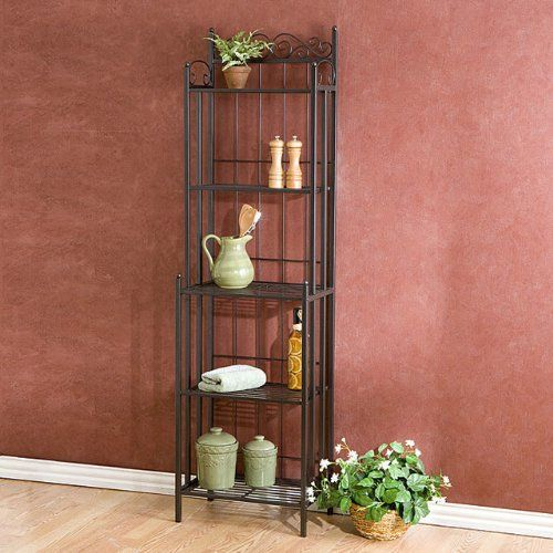 Metal Grey Baker S Rack Plant Stand Kitchen Or Dining Room