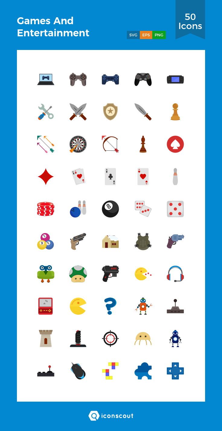 Download Games And Entertainment Icon Pack Available In Svg Png Eps Ai Icon Fonts Icon Pack Icon Icon Font