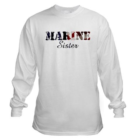 Marine Sister Shirt Cafepress Dluksabd Sleeves Long
