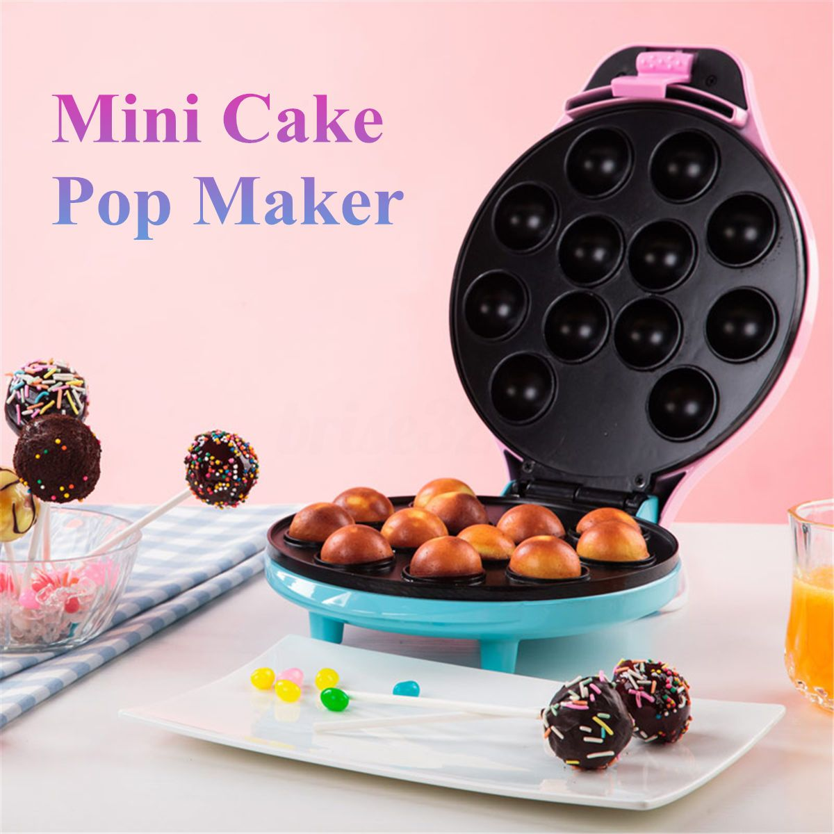 Mini Babycakes Cake Pop Maker Kit Non-Stick Kitchen Baking Dessert Baby  Cakes