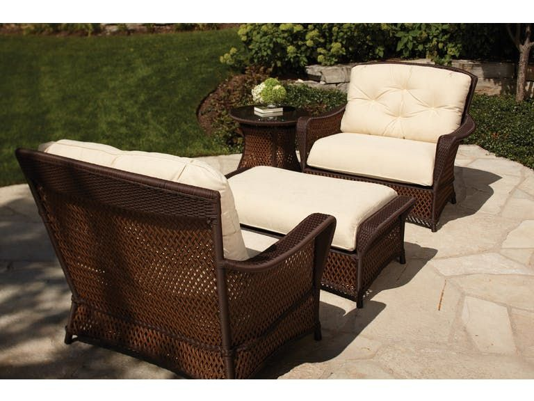 Lloyd Flanders Outdoorpatio Chair And A Half 71315 Hickory