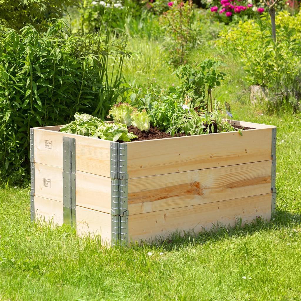 Tectake Hochbeet 3 Hochbeet Palettenrahmen Gartenarbeit
