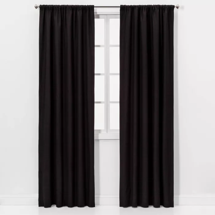 Henna Blackout Curtain Panel Black Project 62 In 2020 Panel